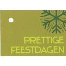 kaartje prettige feestdagen groen